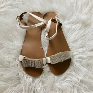 Shoes - New Bow Rhinestone Buckle Sandals